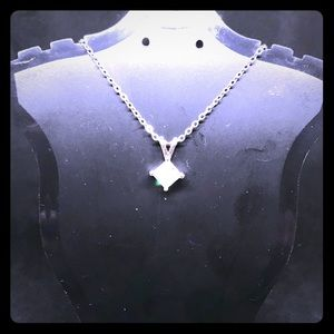 Jewelry - NIP Stunning Silver CZ Solitaire Necklace